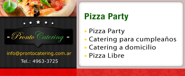 pizza party, pizza party menu, catering de pizzas, pizza party en zona sur, pizza party zona sur precios, la pizza party, servicio de pizza party a domicilio, pizza party ramos mejia,